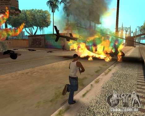 Rainbow Effects para GTA San Andreas quinto tela