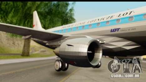 Embraer 175 PLL LOT Retro para GTA San Andreas traseira esquerda vista