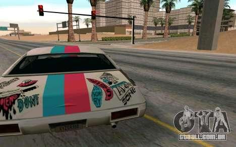 Clover Blink-182 Edition para GTA San Andreas traseira esquerda vista