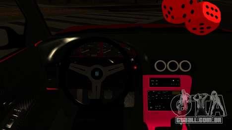 Nissan Silvia S13 Rocket Bunny para GTA San Andreas vista interior