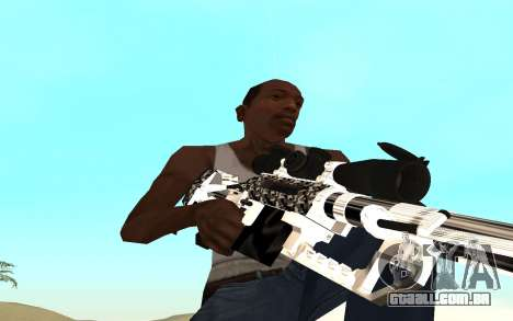 Skeleton Weapon Pack para GTA San Andreas por diante tela