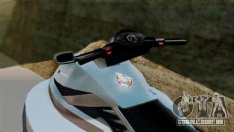 Seashark from GTA 5 para GTA San Andreas traseira esquerda vista