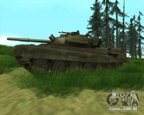 T-72 para GTA San Andreas esquerda vista