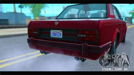 GTA 5 Benefactor Glendale Special IVF para GTA San Andreas vista traseira