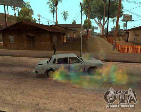 Rainbow Effects para GTA San Andreas oitavo tela