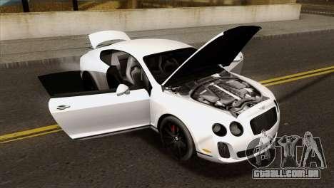 Bentley Continental SS 2010 para GTA San Andreas vista direita