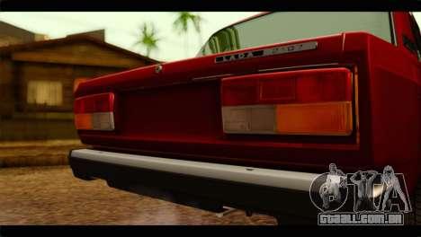 VAZ 21074 para GTA San Andreas vista traseira
