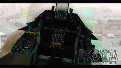 F-16A Fuerza Aerea Venezolana para GTA San Andreas vista traseira