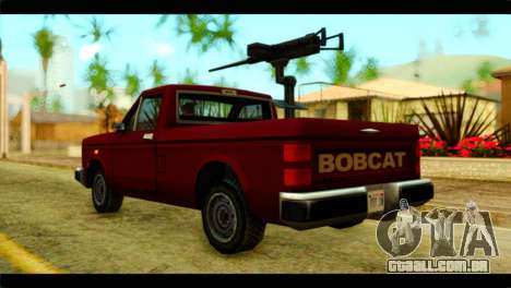 Bobcat Technical Pickup para GTA San Andreas esquerda vista