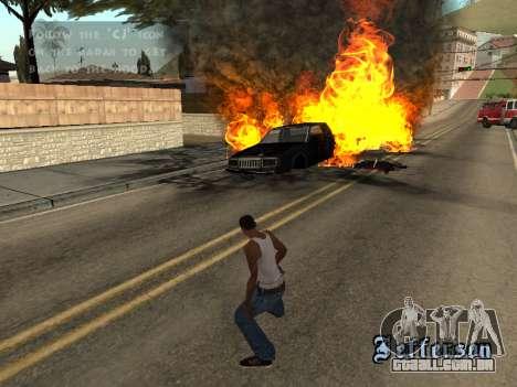 Overdose de efeitos (sem poeira) para GTA San Andreas por diante tela