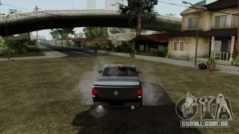 Dodge Ram QuickSilver para GTA San Andreas traseira esquerda vista