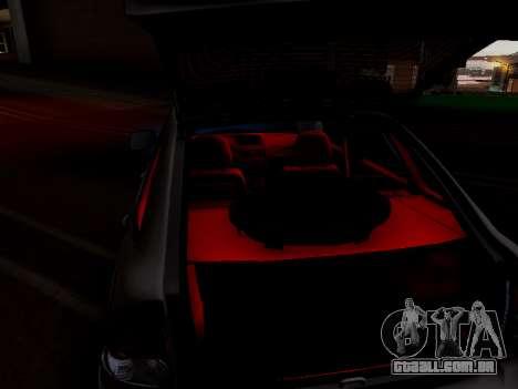 ВАЗ 2172 (Lada Priora) para GTA San Andreas vista interior