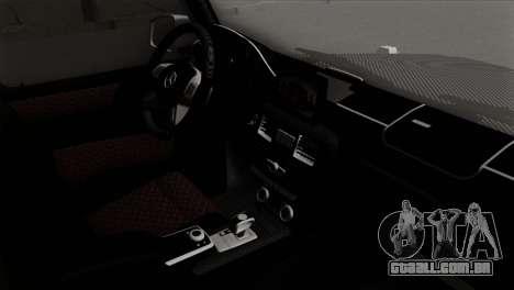 Mercedes-Benz G65 AMG Carbon Edition para GTA San Andreas vista direita