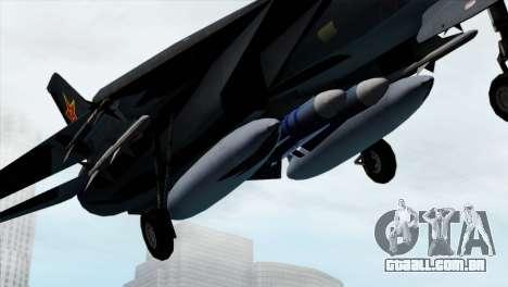 F-14 China Air Force para GTA San Andreas vista direita