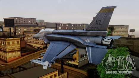EMB F-16F Fighting Falcon US Air Force para GTA San Andreas esquerda vista