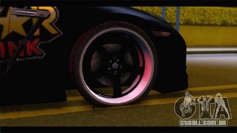 Nissan Skyline GTR Rockstar Energy para GTA San Andreas traseira esquerda vista