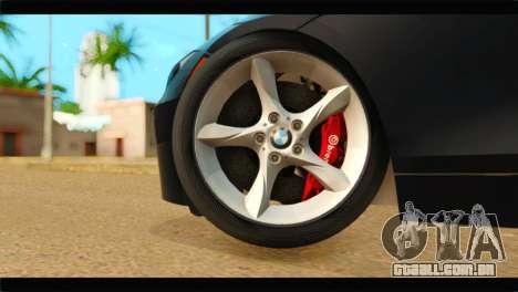 BMW Z4 sDrive35is 2011 para GTA San Andreas traseira esquerda vista