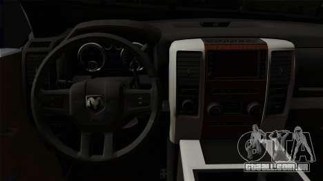 Dodge Ram QuickSilver para GTA San Andreas vista direita