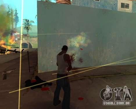 Rainbow Effects para GTA San Andreas por diante tela