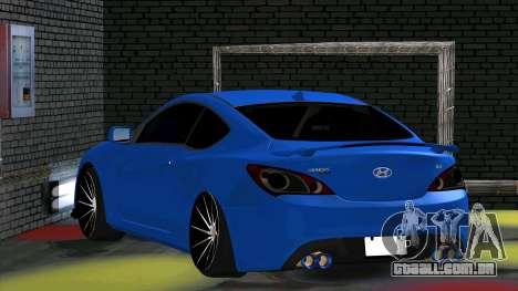 Hyundai Genesis Coupe para GTA San Andreas vista direita