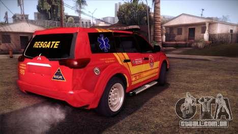 Mitsubishi Pajero Dakar 2014 CBESP para GTA San Andreas esquerda vista