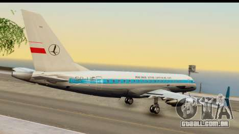 Embraer 175 PLL LOT Retro para GTA San Andreas esquerda vista