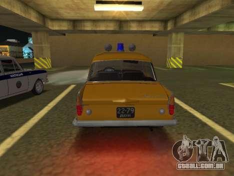 Moskvich 408 Polícia para GTA San Andreas vista direita