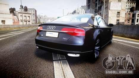 Audi A8 L 2015 Chinese style para GTA 4 traseira esquerda vista
