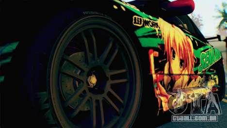 Nissan Silvia S15 Itasha para GTA San Andreas traseira esquerda vista