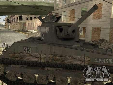 O Tanque M4 Sherman para GTA San Andreas vista direita