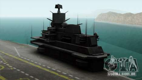 Admiral Kuznetsov Class para GTA San Andreas traseira esquerda vista