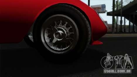 GTA 5 Grotti Stinger GT v2 IVF para GTA San Andreas traseira esquerda vista
