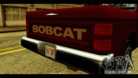 Bobcat Technical Pickup para GTA San Andreas vista traseira