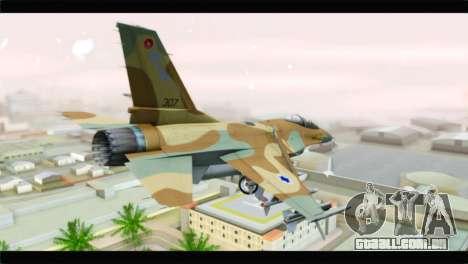 F-16A Netz para GTA San Andreas esquerda vista
