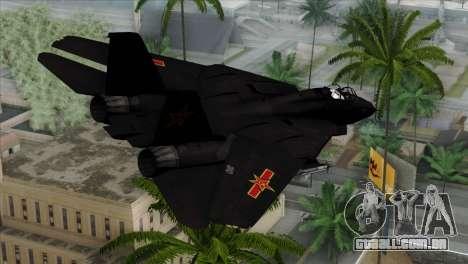 F-14 China Air Force para GTA San Andreas esquerda vista