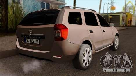 Dacia Logan MCV 2013 IVF para GTA San Andreas esquerda vista