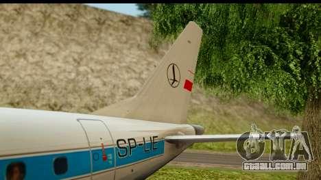 Embraer 175 PLL LOT Retro para vista lateral GTA San Andreas