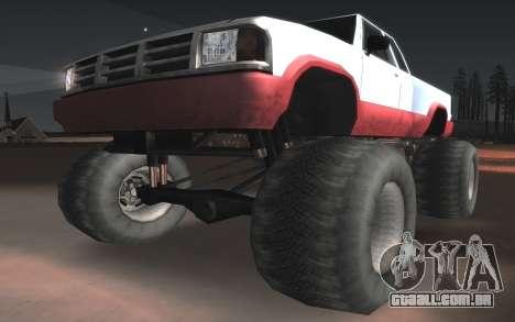 Novas texturas Final do Monstro para GTA San Andreas vista interior
