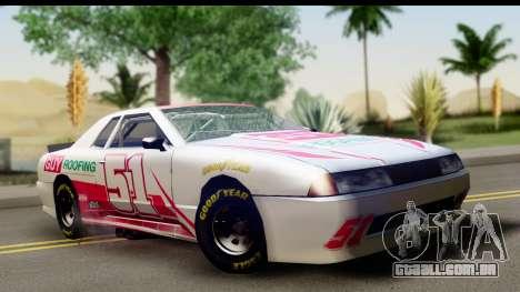 Elegy NASCAR para GTA San Andreas vista interior