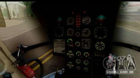 MBB Bo-105 Argentine Police para GTA San Andreas vista traseira