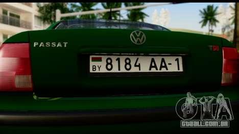 Volkswagen Passat B5 para GTA San Andreas vista direita