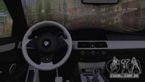 BMW M5 E60 2009 Stock para GTA San Andreas vista direita
