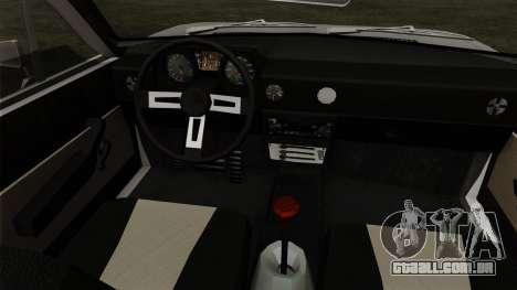 Alfa Romeo Alfasud Sprint para GTA San Andreas traseira esquerda vista