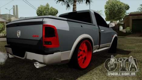 Dodge Ram QuickSilver para GTA San Andreas esquerda vista