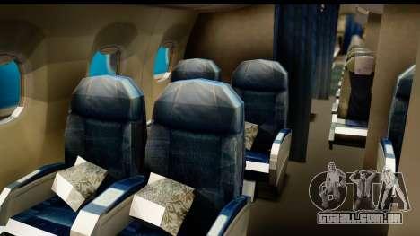 Embraer 175 PLL LOT Retro para GTA San Andreas vista traseira