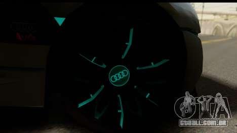 Audi A9 Concept para GTA San Andreas traseira esquerda vista