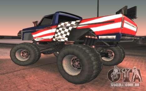 Novas texturas Final do Monstro para GTA San Andreas esquerda vista