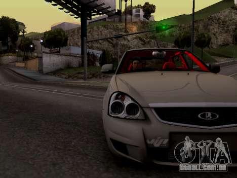 ВАЗ 2172 (Lada Priora) para GTA San Andreas vista traseira