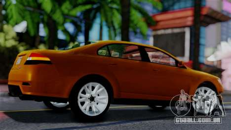 Vapid Interceptor v2 SA Style para GTA San Andreas traseira esquerda vista