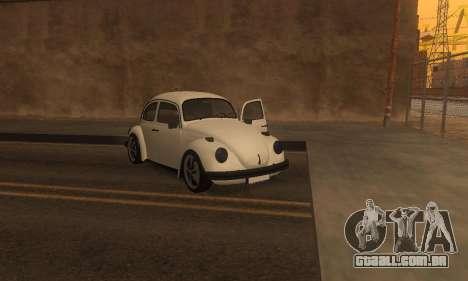 Volkswagen Beetle 1984 para vista lateral GTA San Andreas
